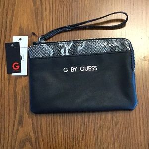NWT G by Guess snakeskin wristlet